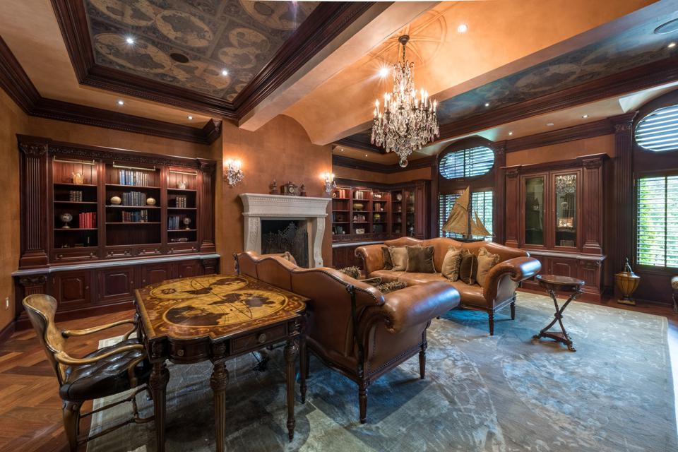 Upscale home office/library