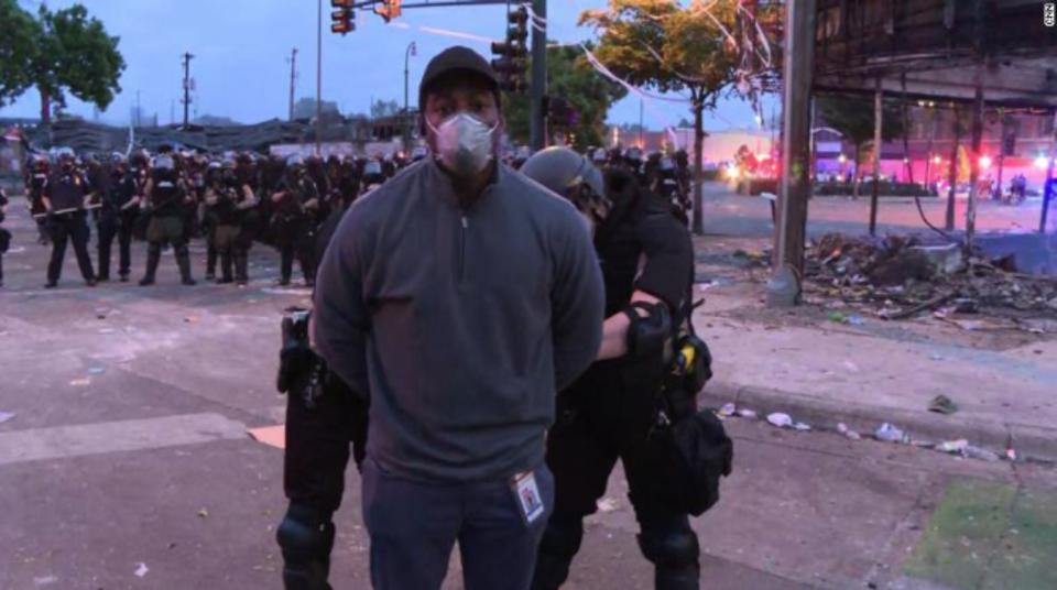 CNN Correspondent Omar Jimenez and his crew were arrested while covering the Minneapolis protests.