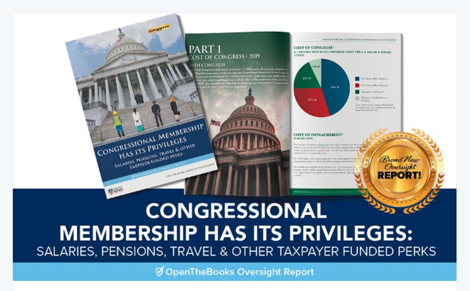 As lawmakers, Congress votes themselves a lot of benefits including salary, pension, and many perks.