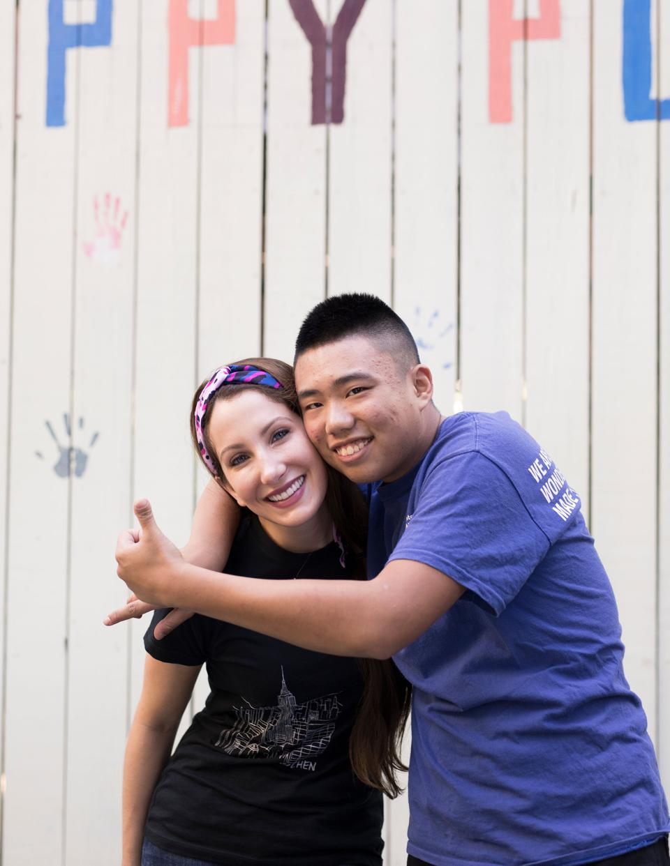 Jovana Mullins and Allen Li standing together for a picture.