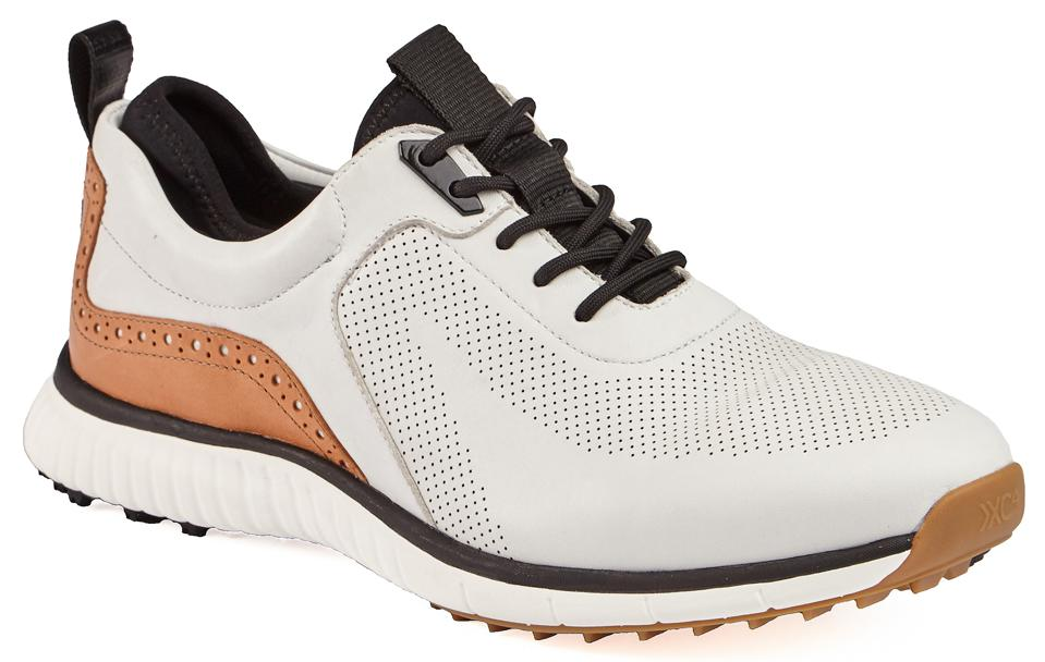 White Johnston & Murphy golf shoe