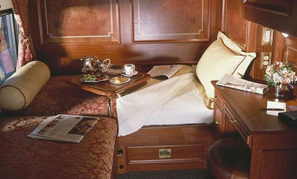 Bedroom suite on the Royal Canadian Pacific