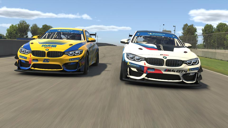 Virtual BMW M4 GT4 for iRacing sim.