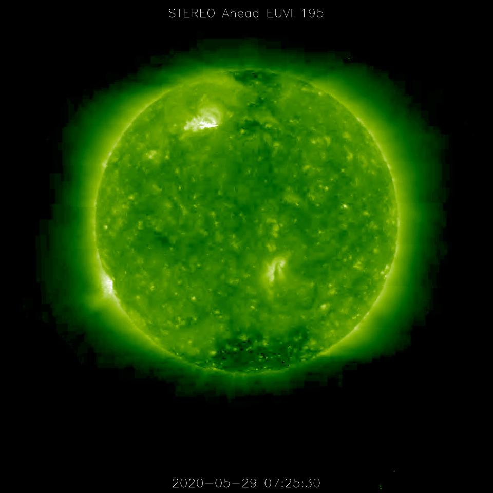 The M1.1 solar flare (R1) that peaked today at 07:24 UTC.