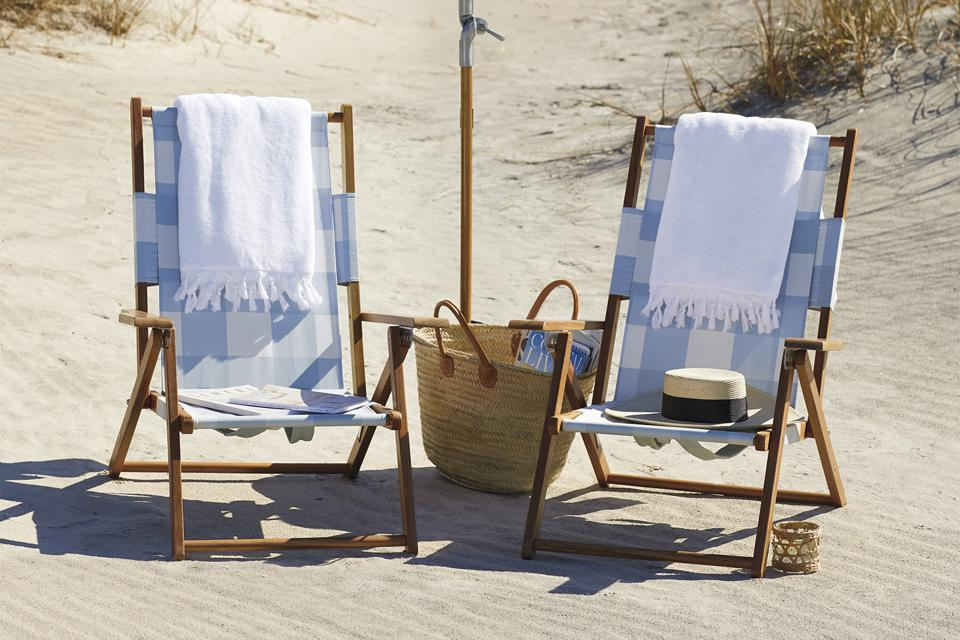 Serena & Lily gingham beach chairs