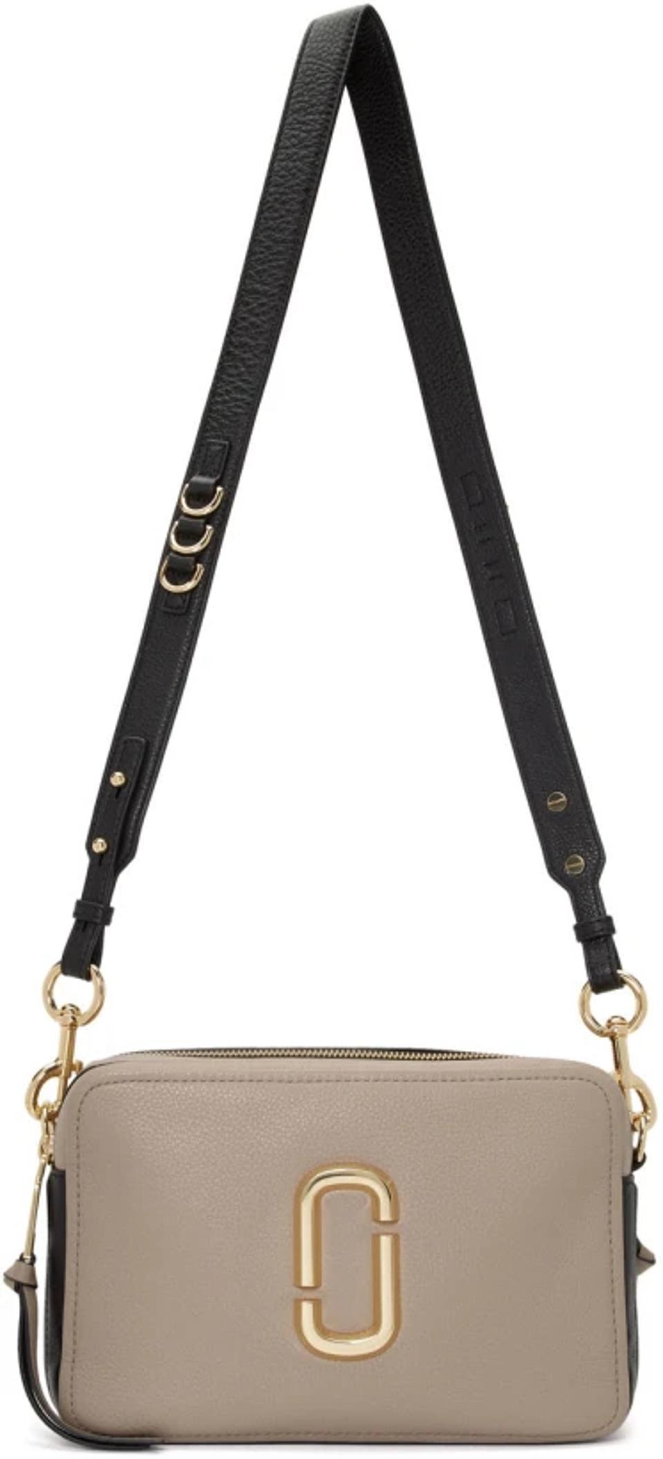 Marc Jacobs Grey & Black 'The Softshot' 27 Bag