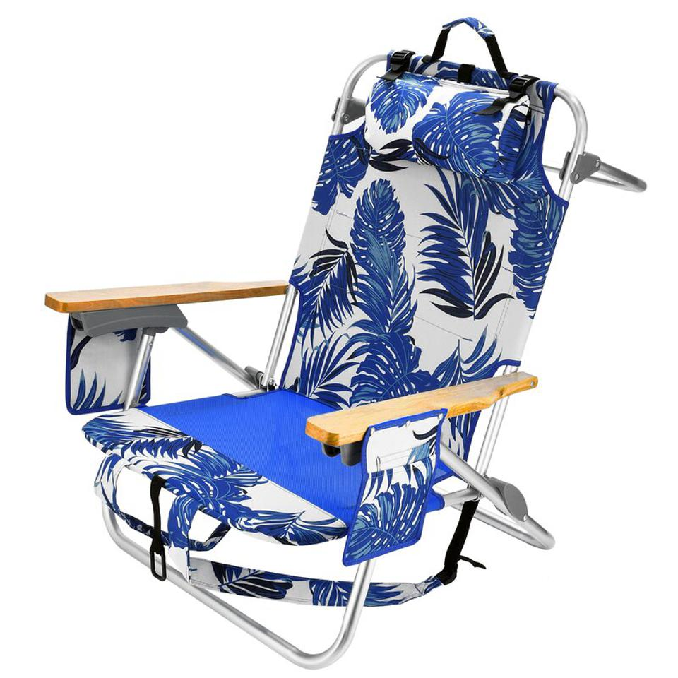 Bay Isle beach chair with blue and white design