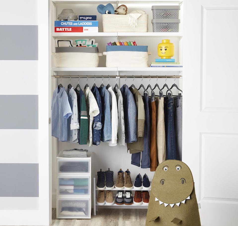 Elfa closet for kids