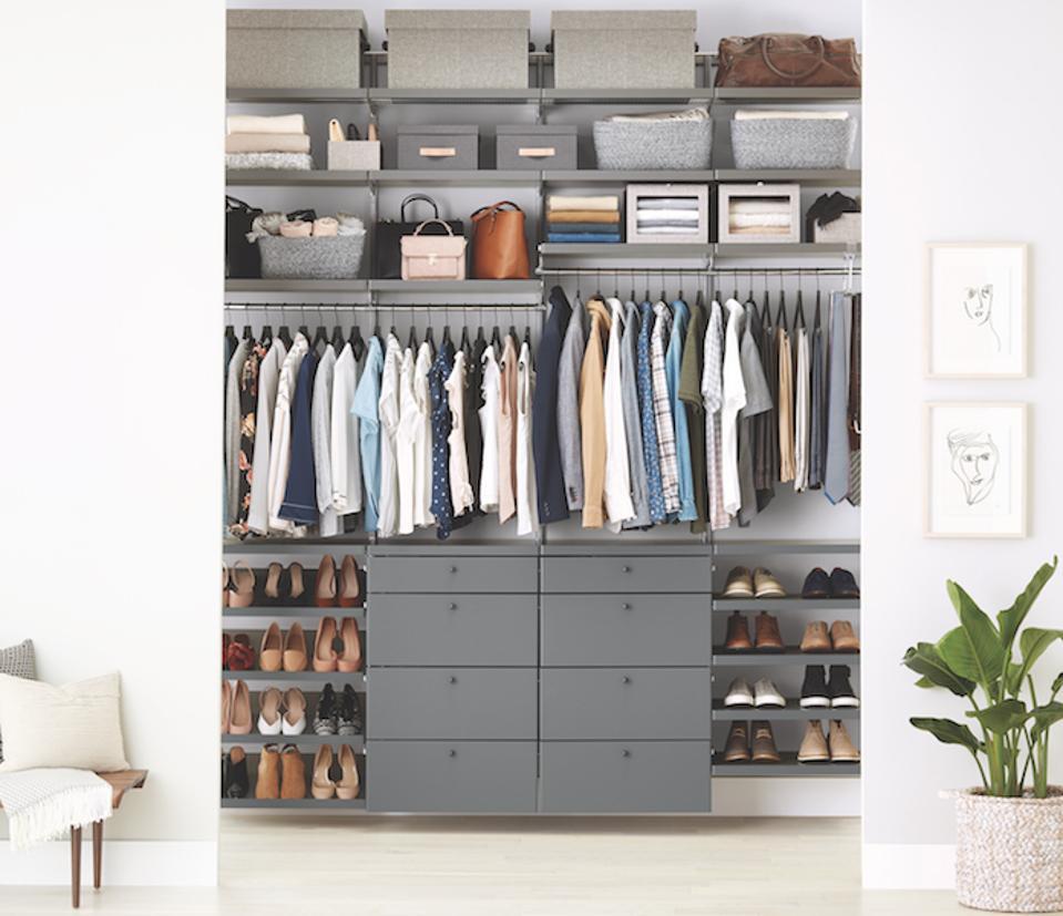 An Elfa grey closet