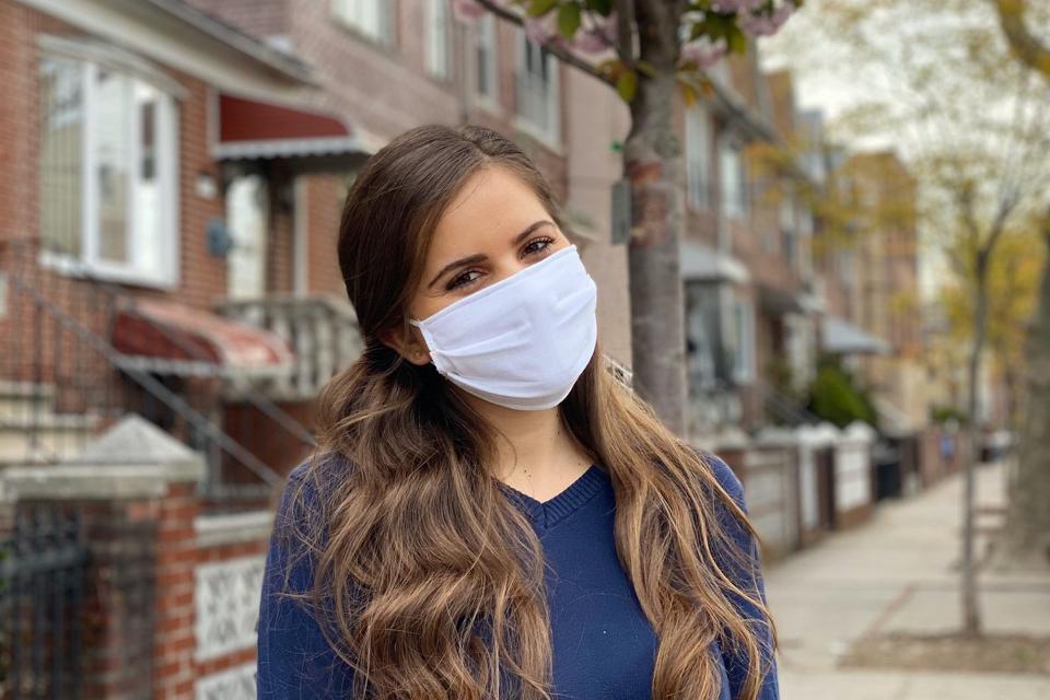 Esty white face mask