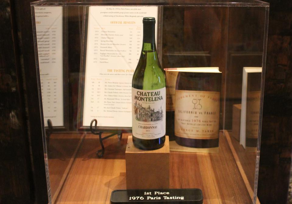 The Chateau Montelena Chardonnay that won the 1976 Tasting of Paris