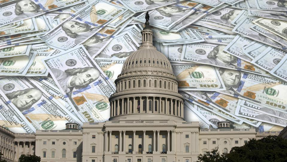 congress with money in the background