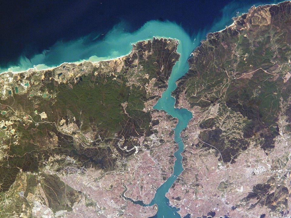 Istanbul and the Bosphorus as viewed from the ISS.