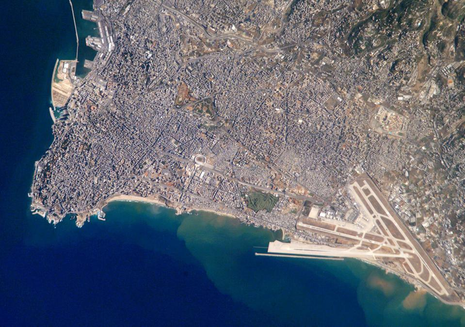 Beirut viewed from aboard the ISS.