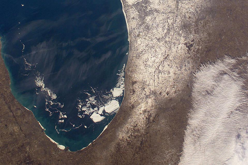 Southern Lake Michigan as viewed from the ISS.