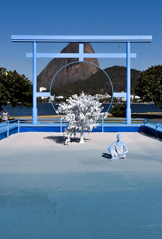 View of the installation It Speaks at Oi Futuro in Rio de Janeiro, Brazil