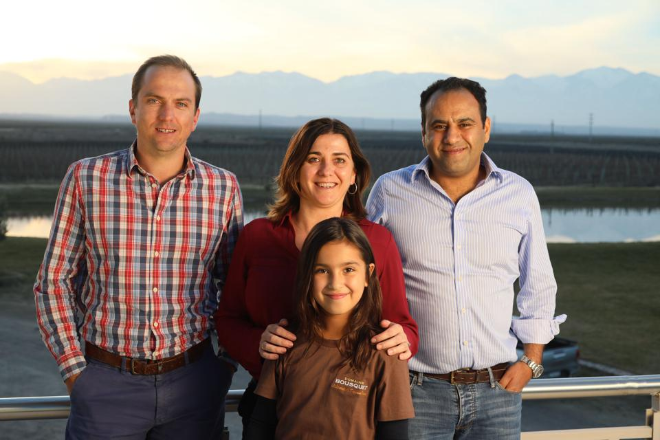 Left to Right Guillaume Bousquet (Anne's brother handling European Sales), Anne Bousquet, Labid al Ameri (Anne's husband) and Their Daughter