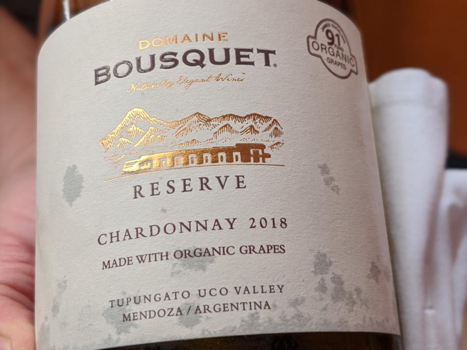 2018 Domaine Bousquet Reserve Chardonnay