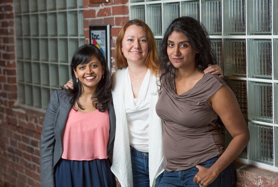 Natasha Mohanty, Rachel Payne, and Dr. Meghana Bhatt - Founders of FEM Inc.