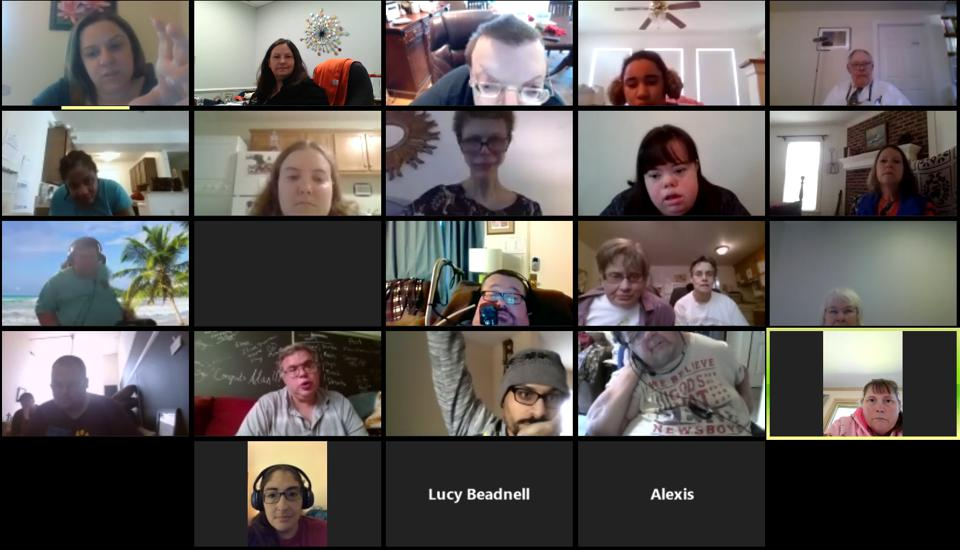 The Alliance virtual Zoom meeting