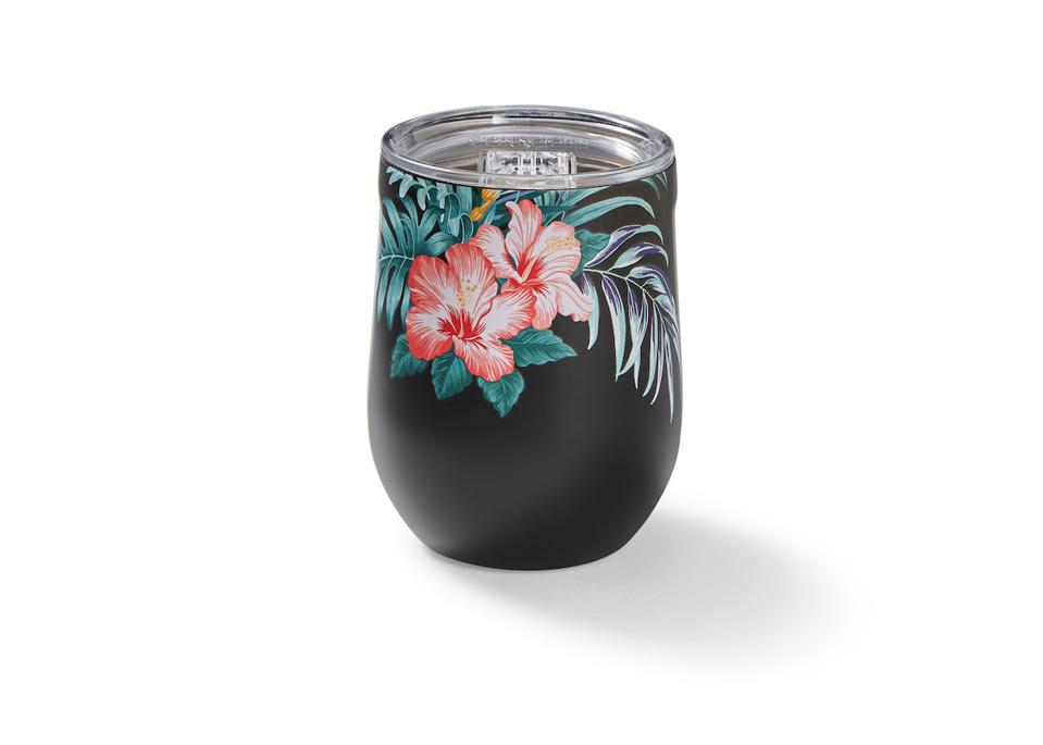 Garden Paradise Stemless 12-oz. Wine Glass from Tommy Bahama