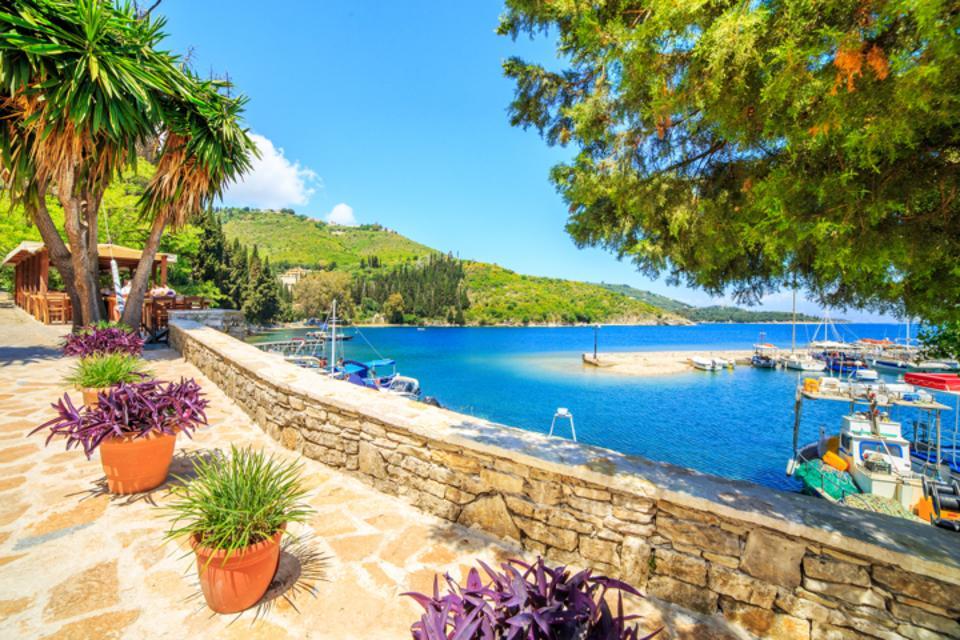 Blue sea in Corfu, Greece