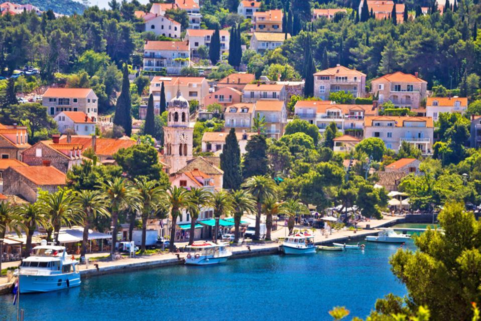 Blue sea panoramic, Cavtat, Croatia