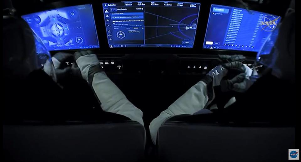 Inside Crew Dragon ISS docking
