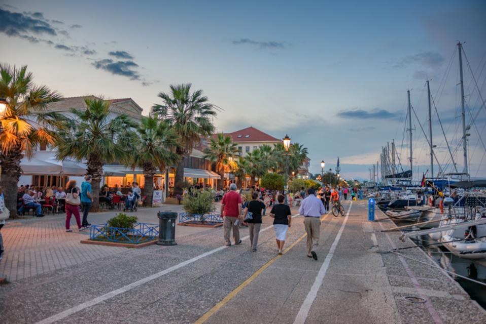 The pier in Preveza, Greece