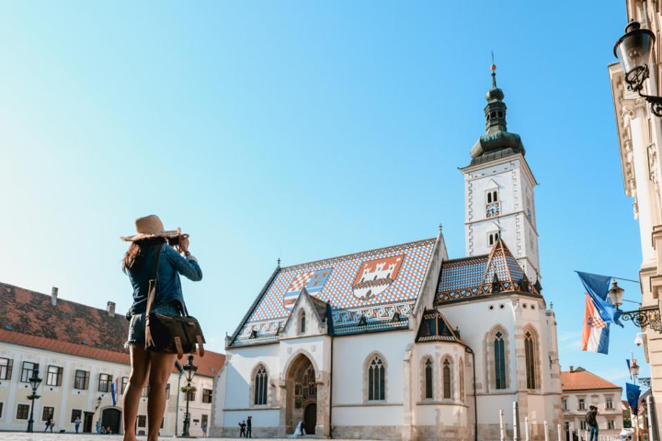Panoramic view of Zagreb, Croatia