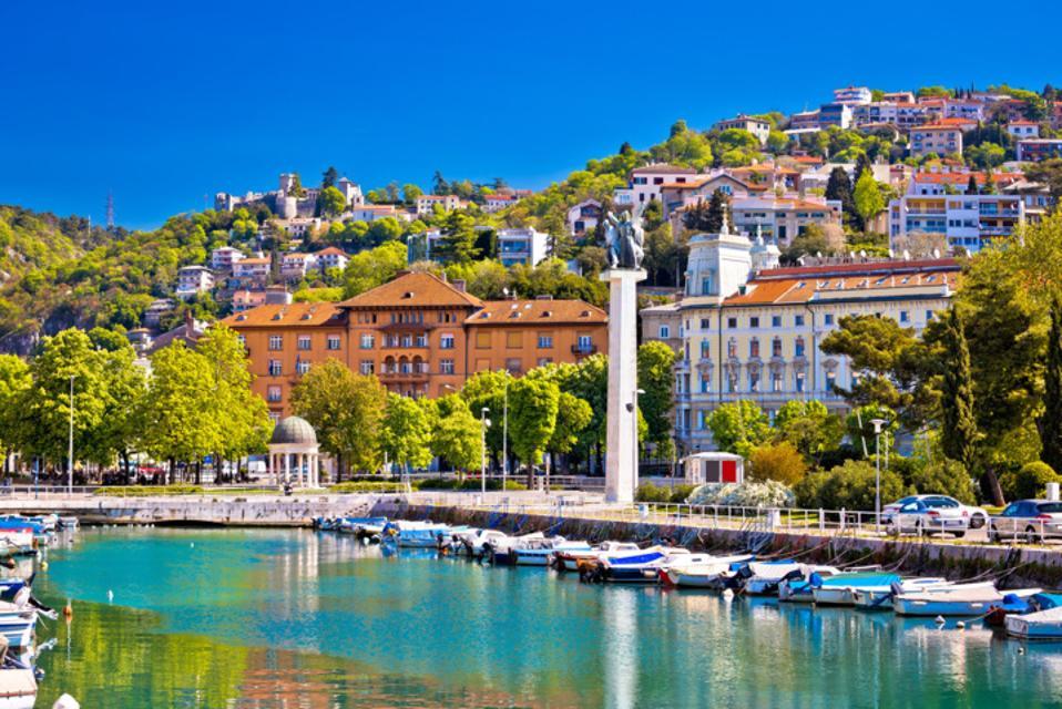 Panoramic view of Rijeka, coastal city in Croatia