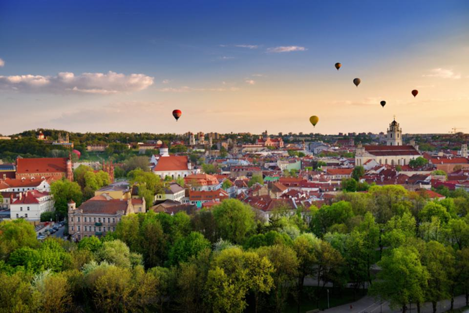 Panoramic View of Vilnius, Lithuania