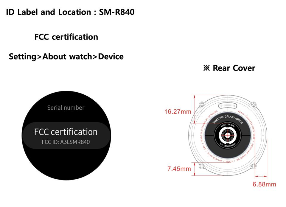 Samsung Galaxy Watch 2020 as revealed by the FCC filing