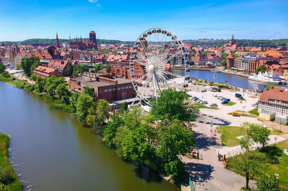 Panoramic view of Gdansk, Poland