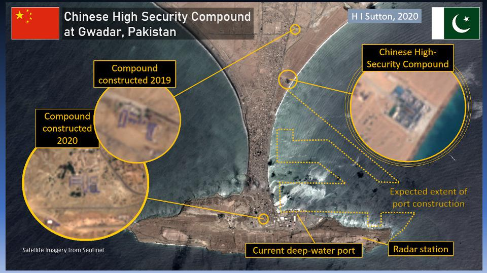 Chinese highly defended base in Gwadar, Pakistan