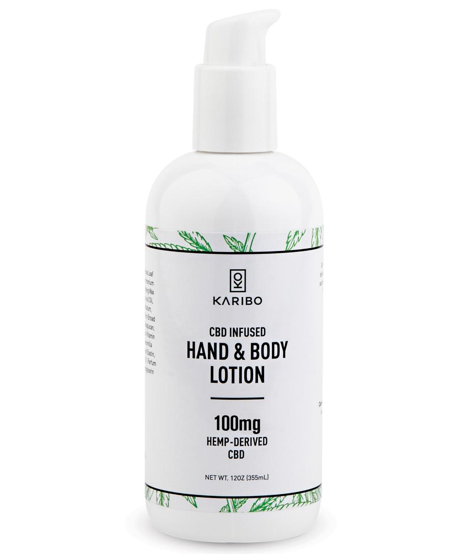 cbd lotion in pump bottle