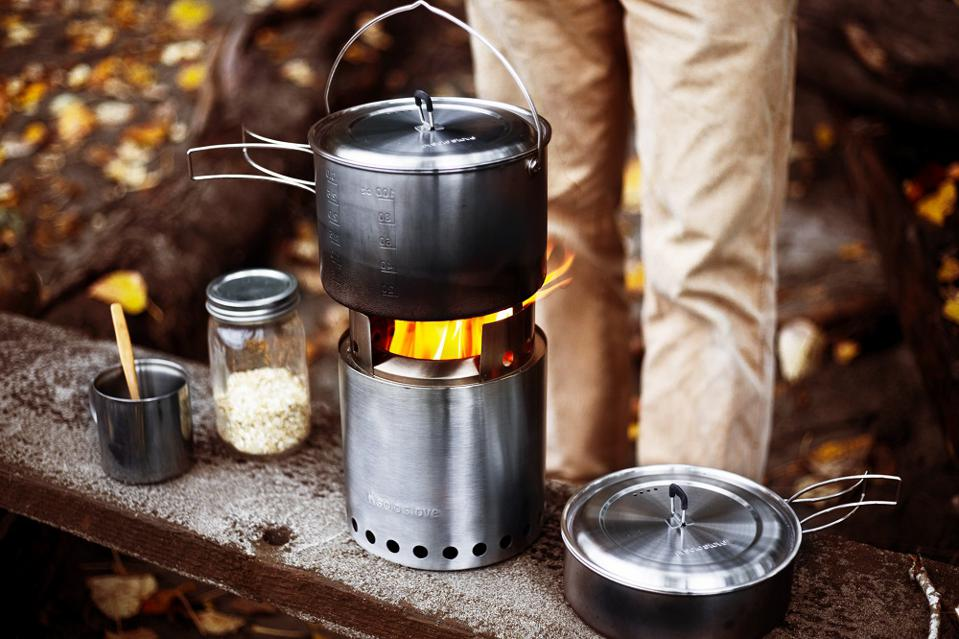 High tech camp stove