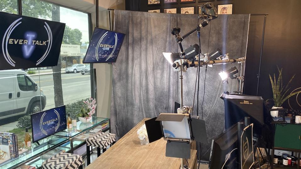 A street side studio