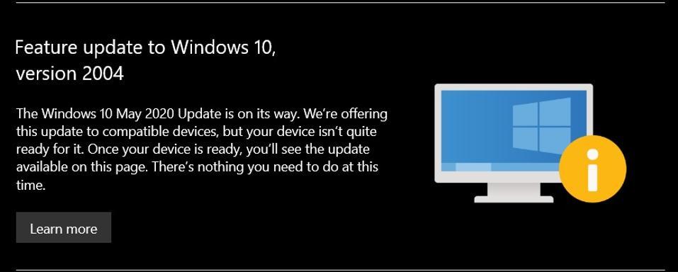 Windows 10 warning