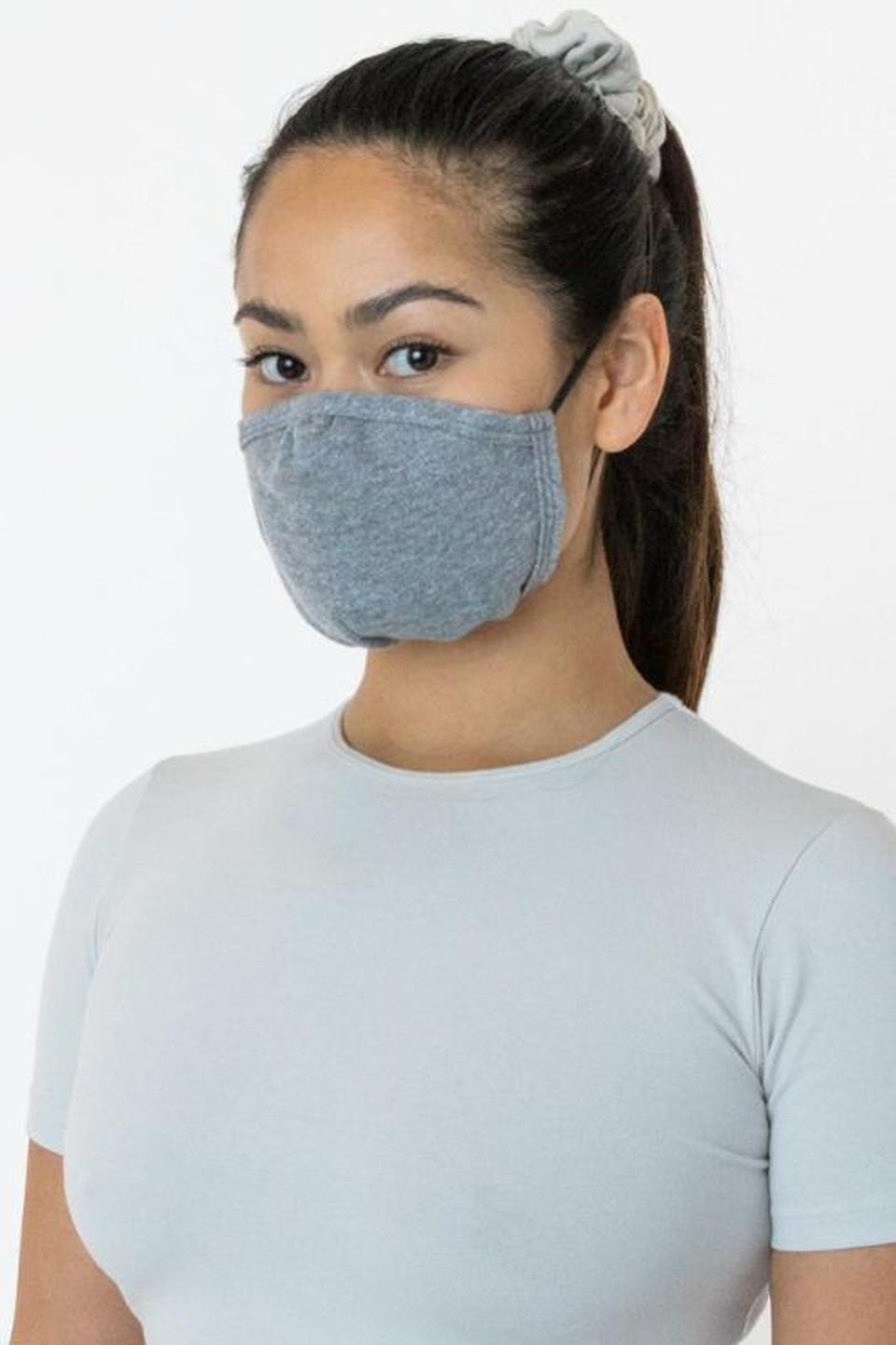 Los Angeles Apparel grey face mask