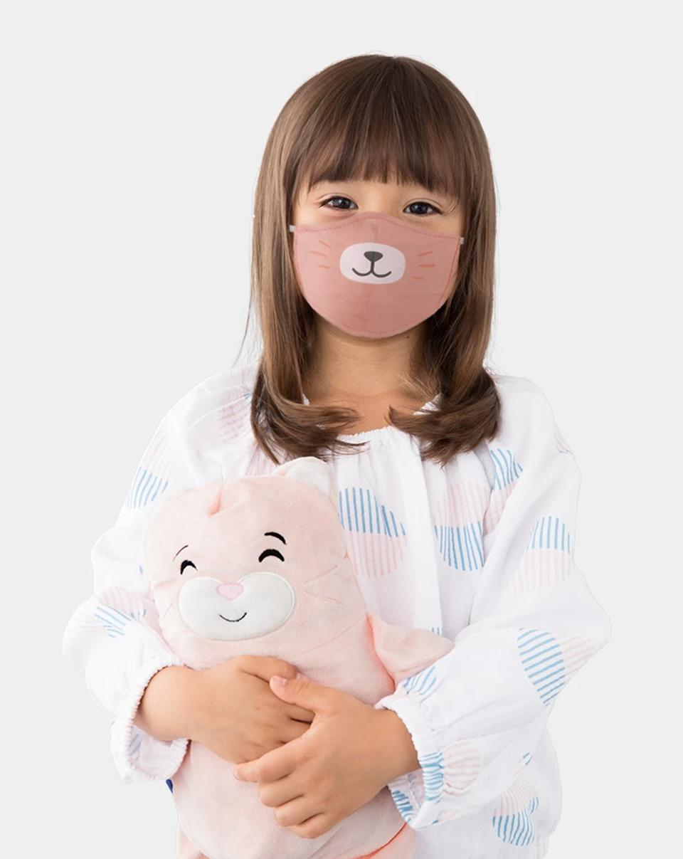 machine-washable kids protective masks to all face shapes with adjustable straps