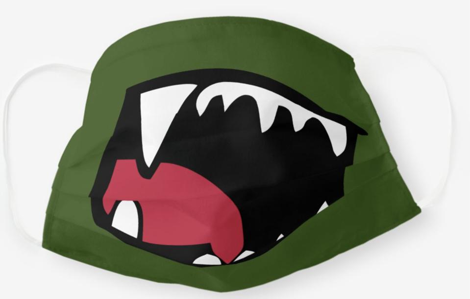 Zazzle green dinosaur mask for kids