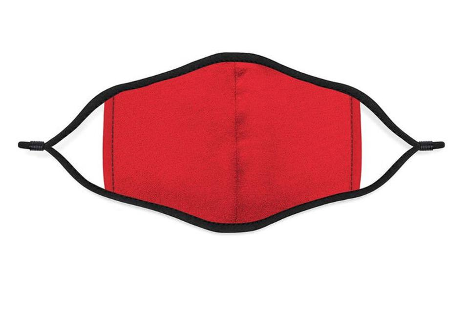 Vida red and black face mask