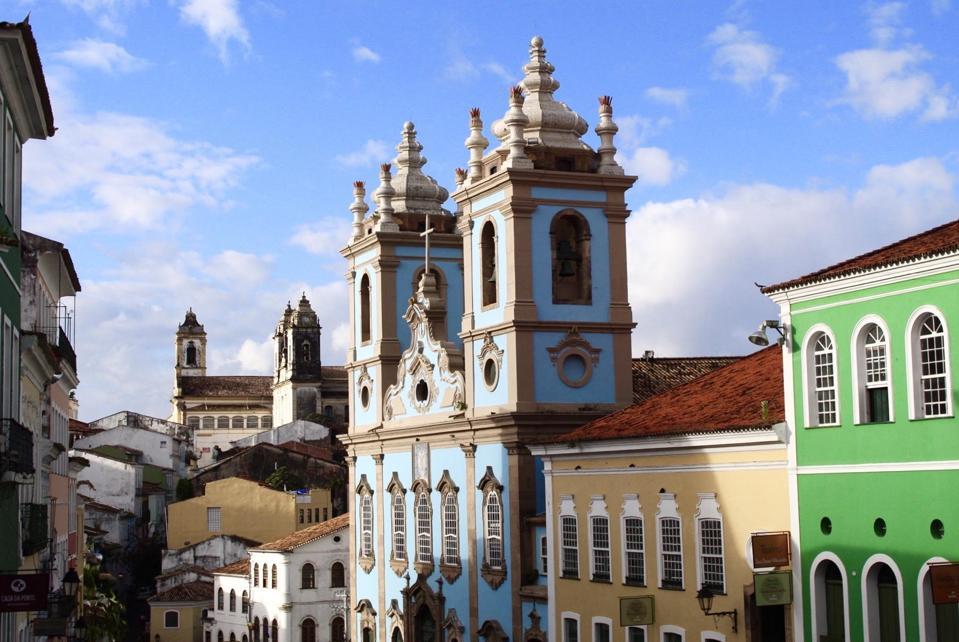 Salvador, Bahia Old Town church.