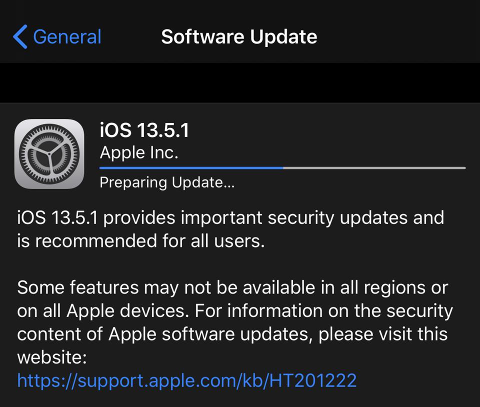 Apple Releases iOS 13.5.1: Surprise Update With Vital Bug Patch