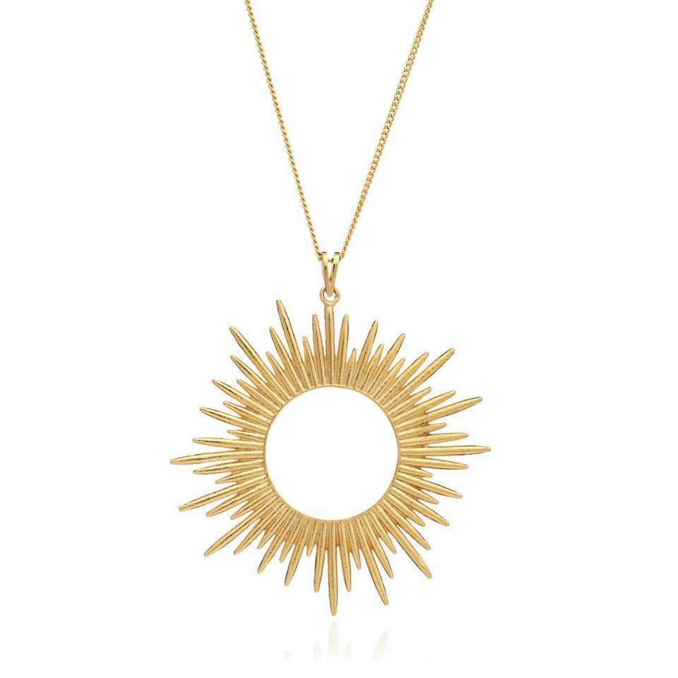 Electric Goddess Statement Sun Necklace by Rachel Jackson