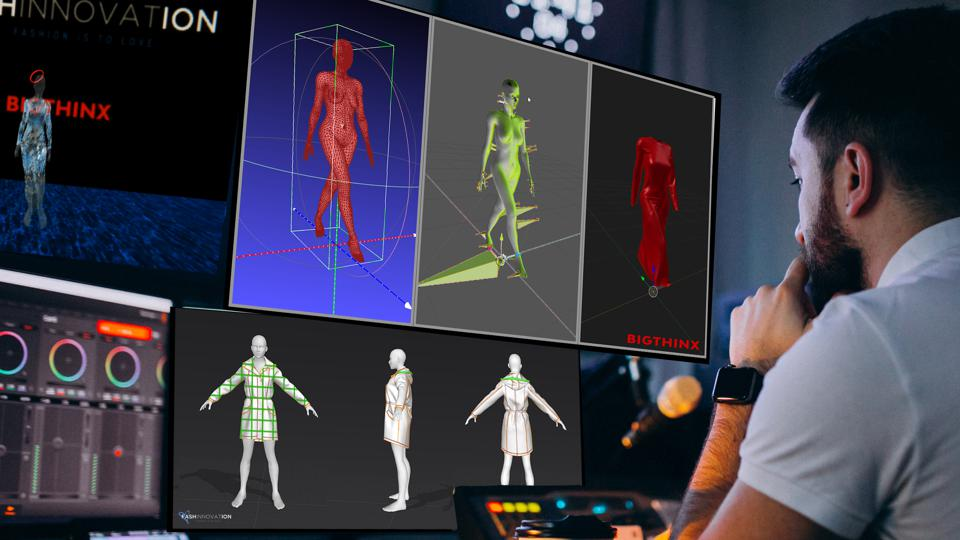 avatars and 3D model design for fashion show