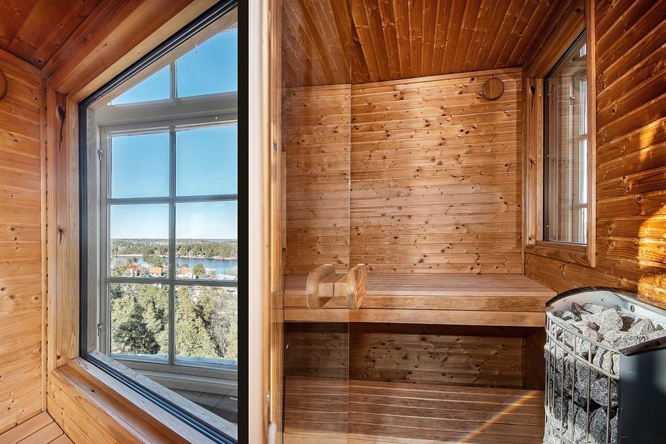 Top floor sauna