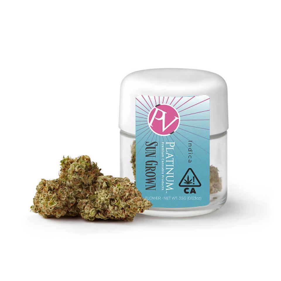 Indica cannabis flowers from Platinum in California