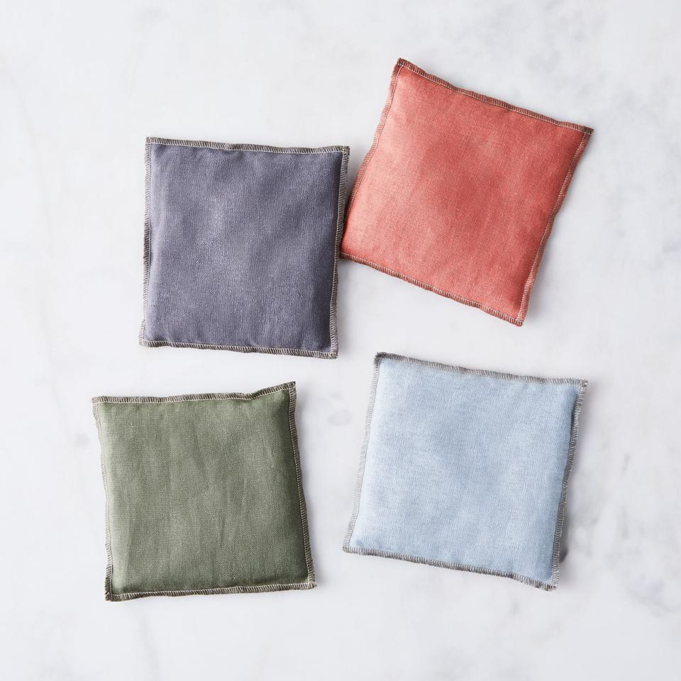 Four lavender sachets from Food52